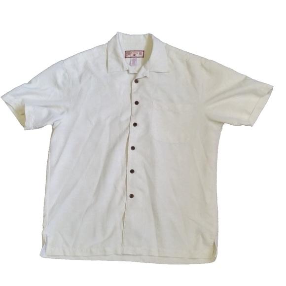 2bb3e3e8 Caribbean Joe Shirts | Mens Off White Hawaiian Shirt C048x | Poshmark